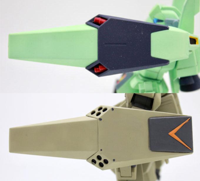 ジェガンA2型(ゼネラル・レビル配備機)の比較画像です