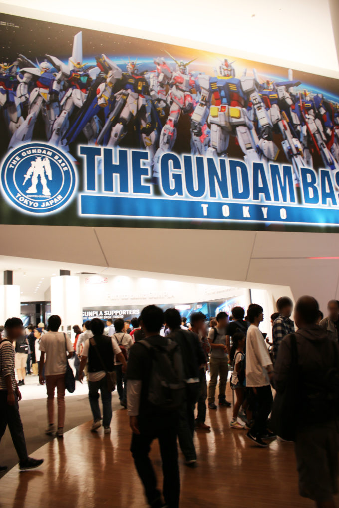 お台場ダイバーシティ東京のガンダムフロント東京の画像です。