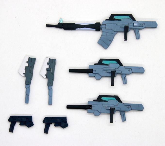 ケルディムガンダムサーガの塗装した武器の画像です