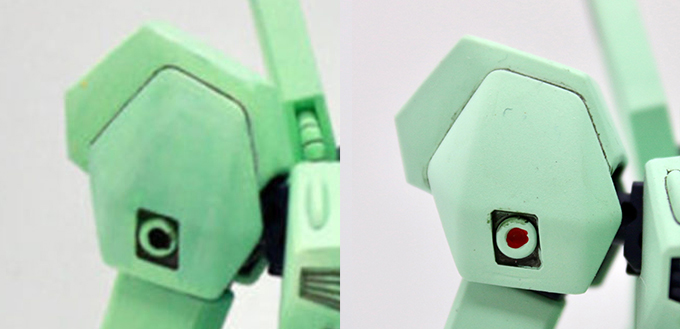 ジェガンBタイプ(F91Ver.)の肩の比較画像です