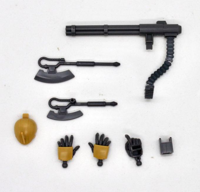 ザク・ハーフキャノンの付属品の画像です