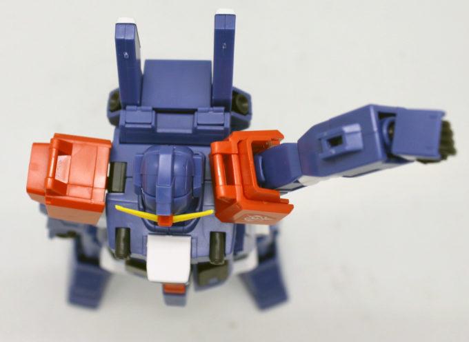 HGUCブルーディスティニー2号機EXAMの肩の可動域の画像です