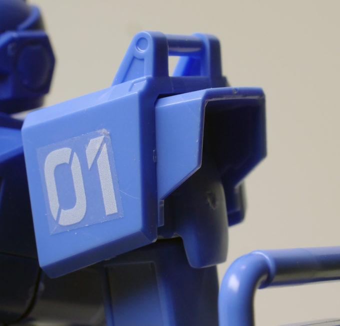 ブルーディスティニー1号機EXAMの肩のギミック画像です