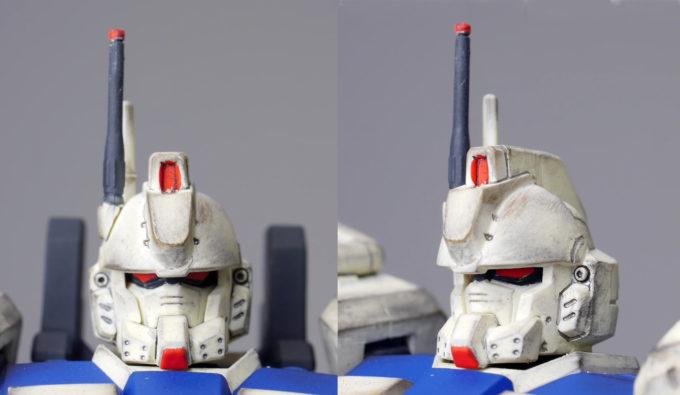 ガンダムEz8の頭部の画像です