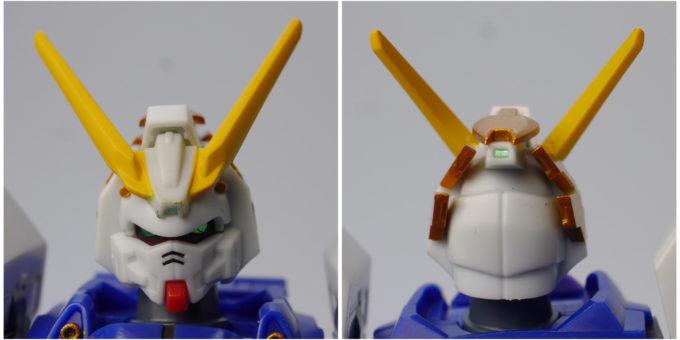 ロボット魂シャイニングガンダムの頭部の画像です