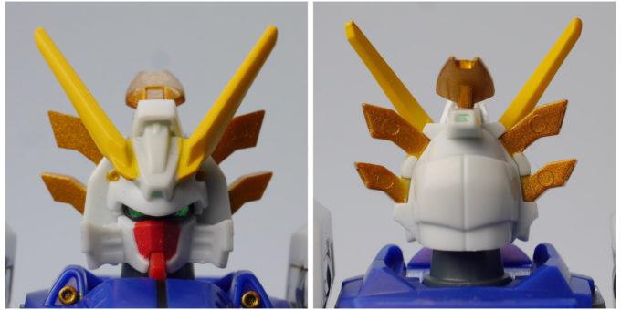 ロボット魂シャイニングガンダムのスーパーモードの頭部の画像です