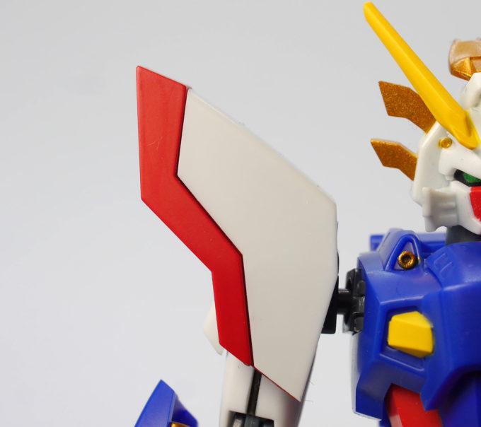 ロボット魂シャイニングガンダムのスーパーモードの肩の画像です