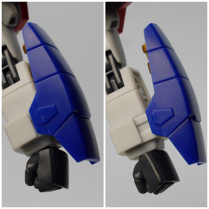 ロボット魂シャイニングガンダムのスーパーモードの腕の画像です