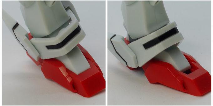 ロボット魂シャイニングガンダムのスーパーモードの足の画像です