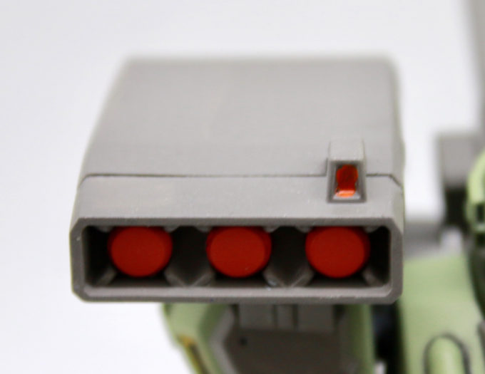 スタークジェガンの3連装ミサイル・ポッドの画像です