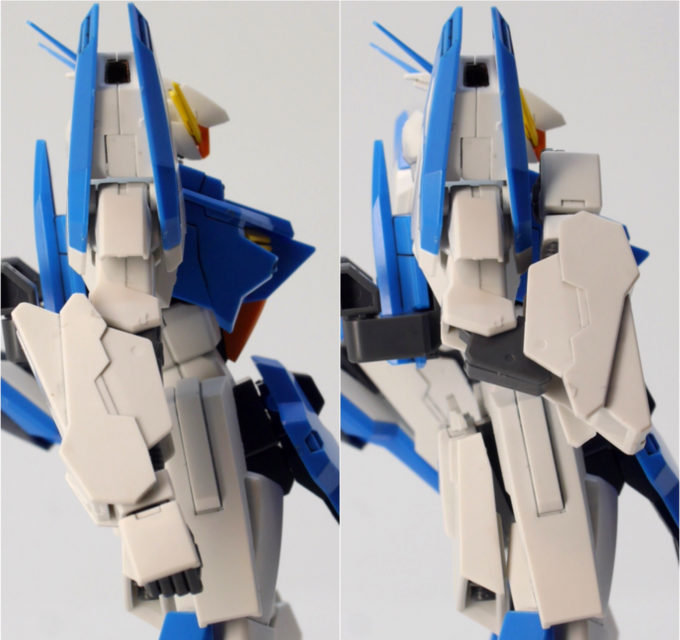 A-Zガンダムの腕可動域のガンプラレビュー画像です