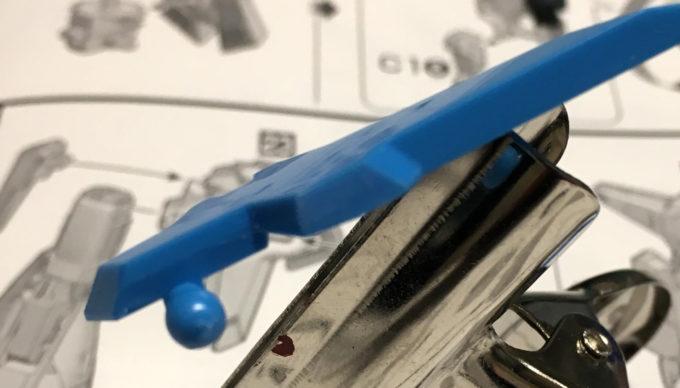 A-Zガンダムのフロントアーマー改造のガンプラレビュー画像です