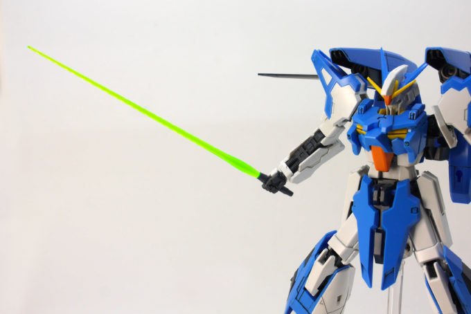 A-Zガンダムのビームサーベルのガンプラレビュー画像です