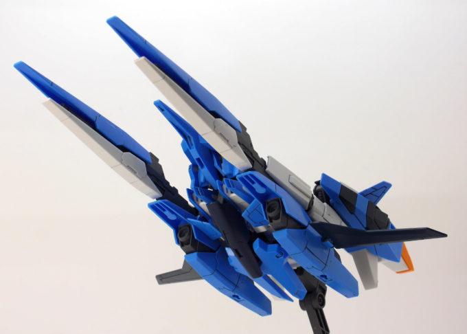 A-Zガンダムのウェーブライダー形態のガンプラレビュー画像です