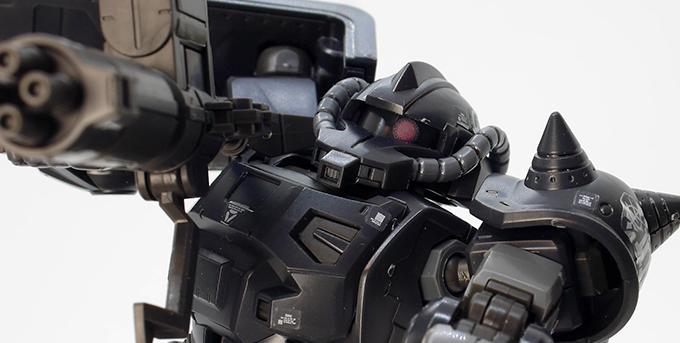 HGアクト・ザク(キシリア部隊機)のガンプラレビュー画像です