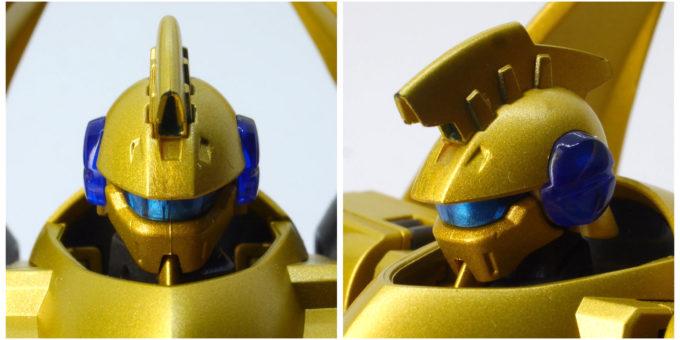 ROBOT魂アルヴァアロンの頭部の画像です