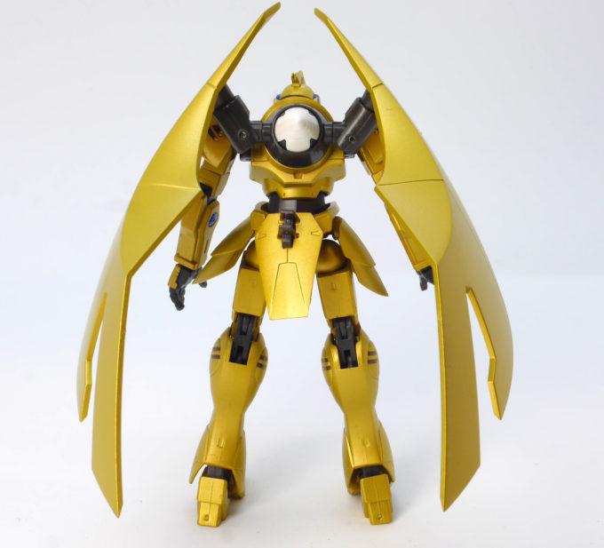 ROBOT魂アルヴァアロンの背面翼の可動画像です