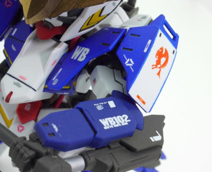 バンダムバルバトス第6形態のSDとHDのミキシングビルドの改造品画像です