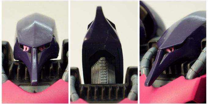 旧HGUCキュベレイMk-Ⅱ(エルピー・プル専用機)の頭部の画像です