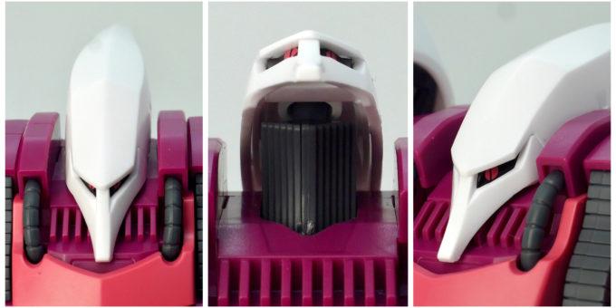 HGUCキュベレイ(REVIVE版)の頭部の画像です