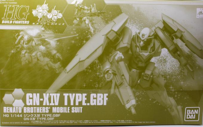 HGBFジンクスIVType-GBFのボックスアートです