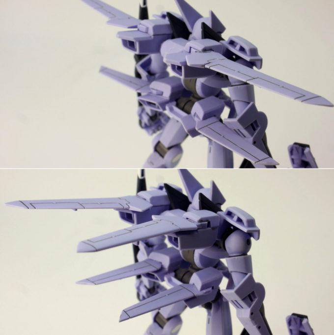 HGユニオンフラッグのウィング部分のガンプラレビュー画像です