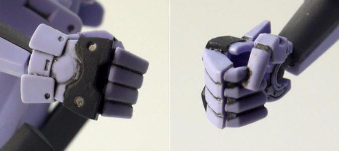 HGユニオンフラッグの手のガンプラレビュー画像です