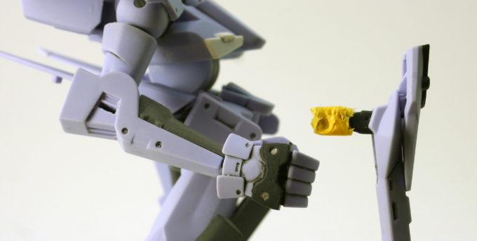 HGユニオンフラッグのリニアライフルのガンプラレビュー画像です
