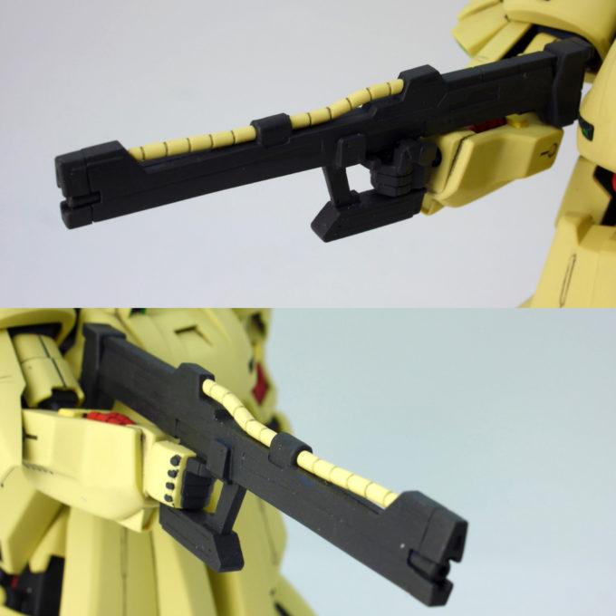 HGUCジ・Oのビーム・ライフルのガンプラレビュー画像です