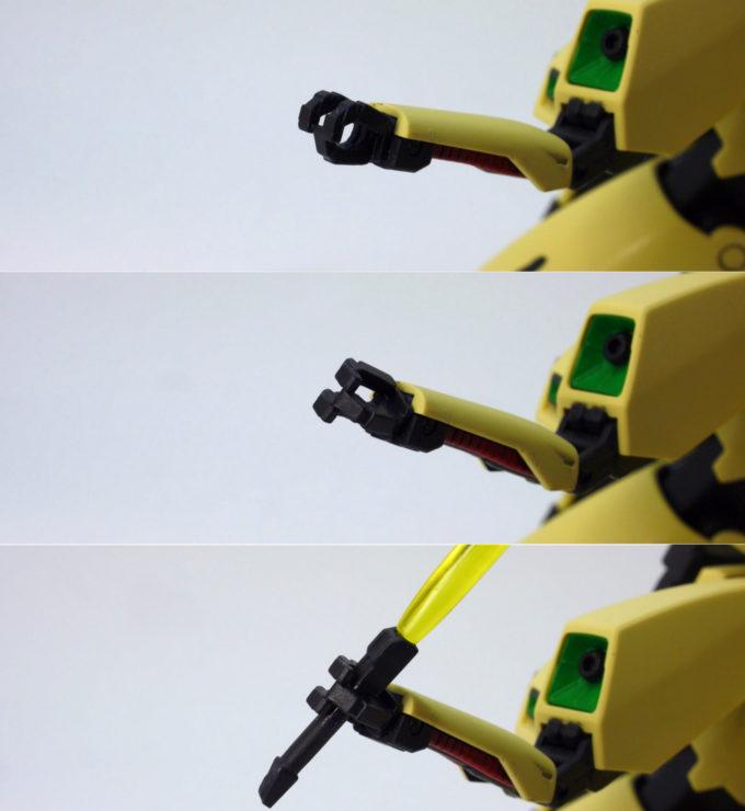 HGUCジ・Oの隠し腕のガンプラレビュー画像です