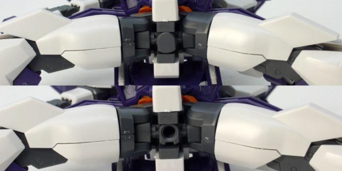 HGBDガンダムAGEIIマグナムのアクションベース用の穴のガンプラレビュー画像です
