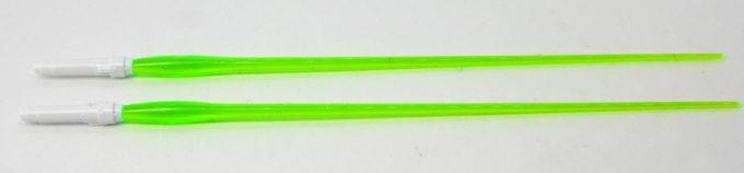 HGACウイングガンダムゼロのビームサーベルのガンプラレビュー画像です