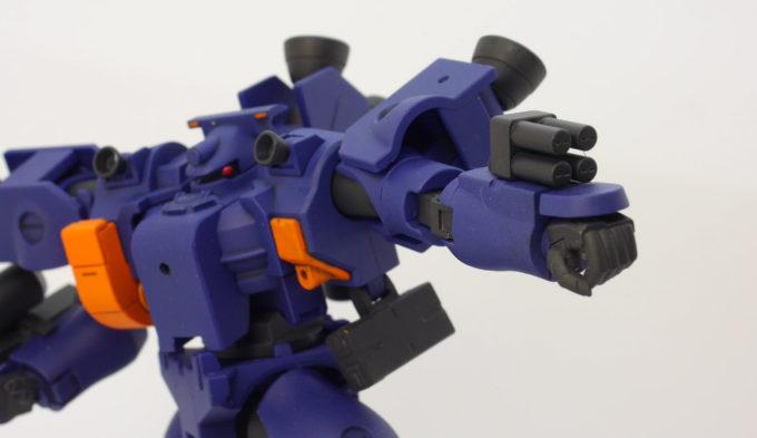 HGティエレン宇宙型の30mm機銃のガンプラレビュー画像です