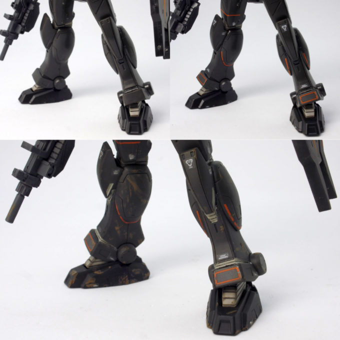ガンダムFSDの脚部の比較画像です