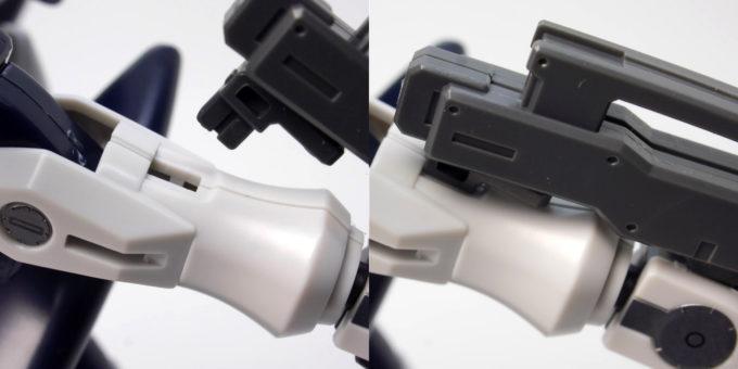 HGアドヴァンスドジンクスの前腕部への接続画像です