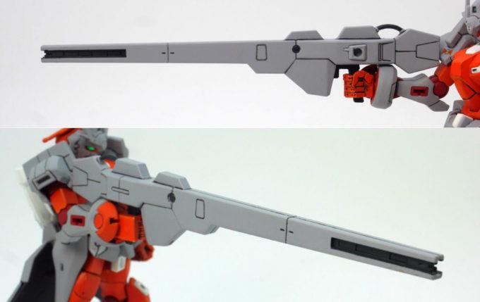 HG Gアルケインの対艦ビーム・ライフルのガンプラレビュー画像です