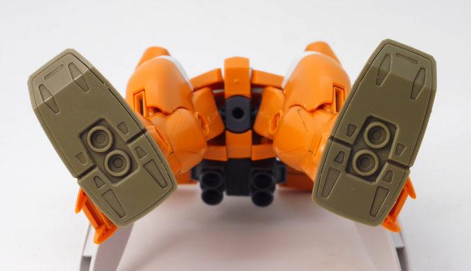 HGBDジムIIIビームマスターの足裏のガンプラレビュー画像です