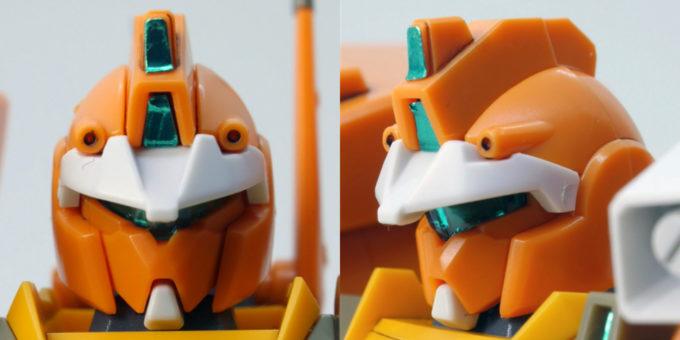 HGBDジムIIIビームマスターの頭部のガンプラレビュー画像です