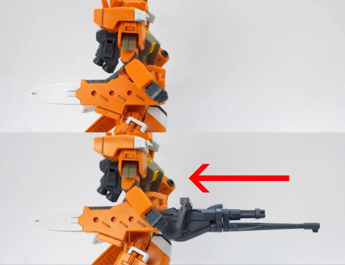 チェンジリングライフルの取り付け方法の画像です