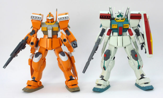 HGBDジムIIIビームマスターとHGUCジムIIIの比較画像です
