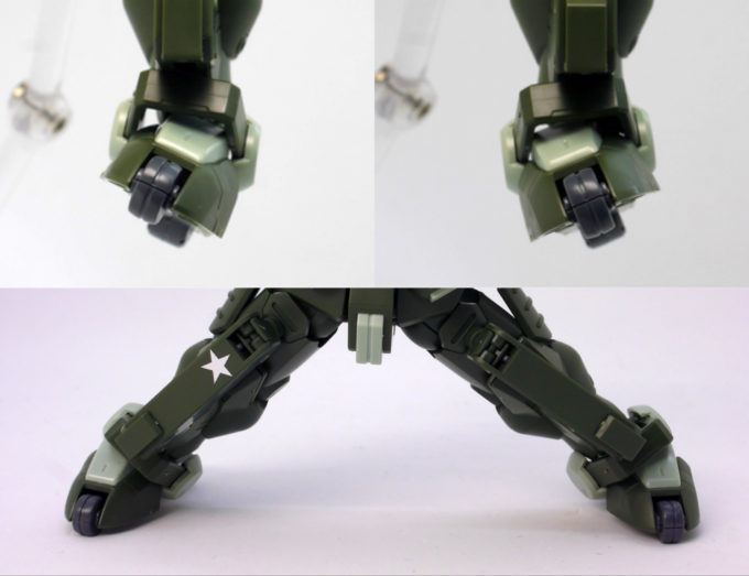 HGBFグリモアレッドベレーの脚部可動・接地性の良さの画像です