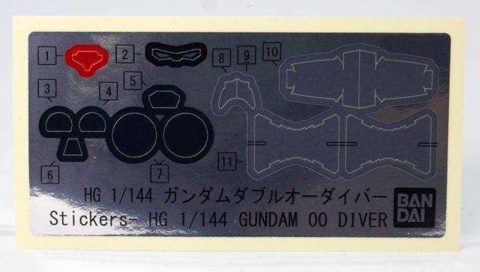 HGBDガンダムダブルオーダイバーのシール画像です