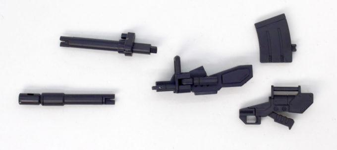 HGUC陸戦型ガンダムの180mmキャノン分解のガンプラレビュー画像です