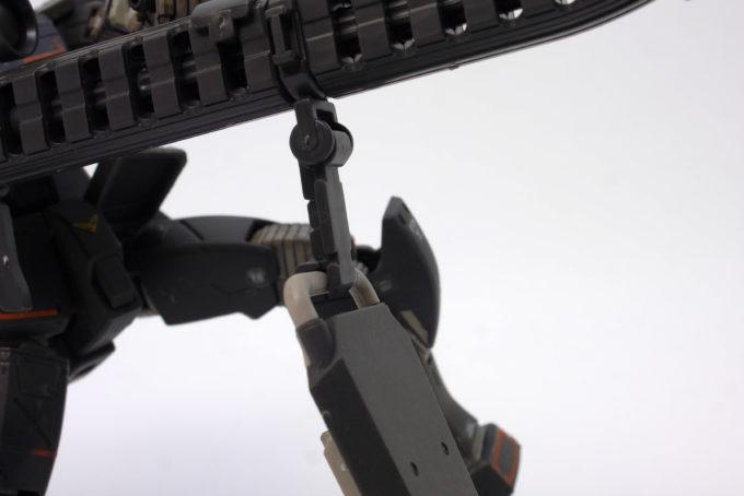 ガンダムエース付録試作型ロングレンジ・ビームライフルのガンプラレビュー画像です