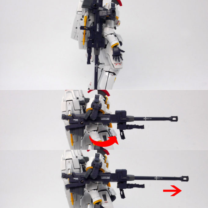 RGトールギスEWのドーバーガン伸縮のガンプラ画像です