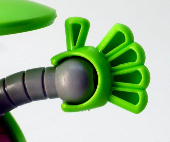 ハロプラのハロ・ベーシックグリーンのガンプラレビュー画像です