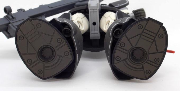 HGドム試作実験機の足裏のガンプラレビュー画像です