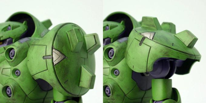 HGガンダムグシオンの肩可動のガンプラレビュー画像です