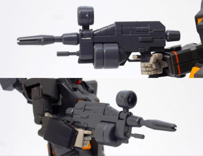 HGヘビーガンダムの専用ビーム・ライフルのガンプラレビュー画像です