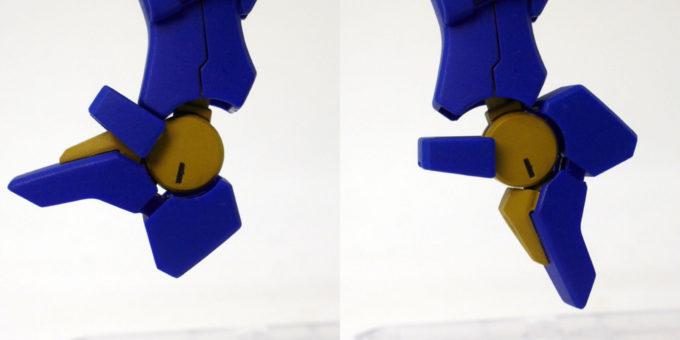 HGモンテーロの足先の可動のガンプラレビュー画像です